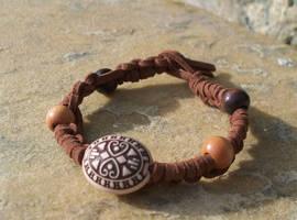 Suede Macrame Bracelet by tiranaki