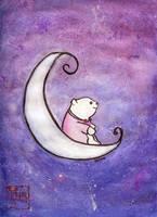 Bear on Moon by tiranaki