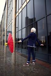 [ K ] : red umbrella by RaniNyan