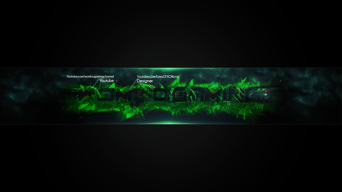 wombo gaming channel art by estrogfx