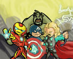 avengers family photo
