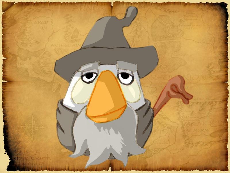 Gandalf le gris bird by Debarsy