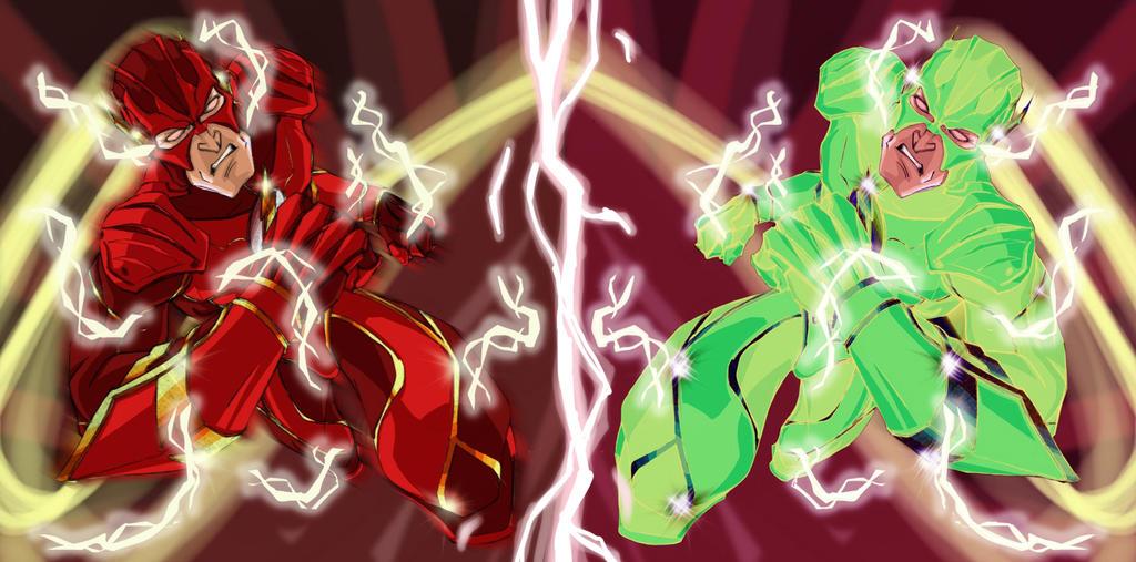 Battle Flash Versus Flash Reverse by Debarsy
