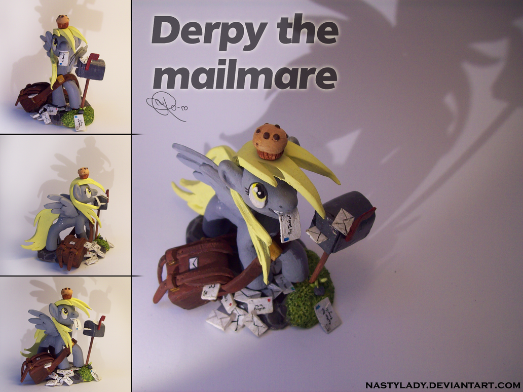 Derpy the mailmare sculpture by NastyLady