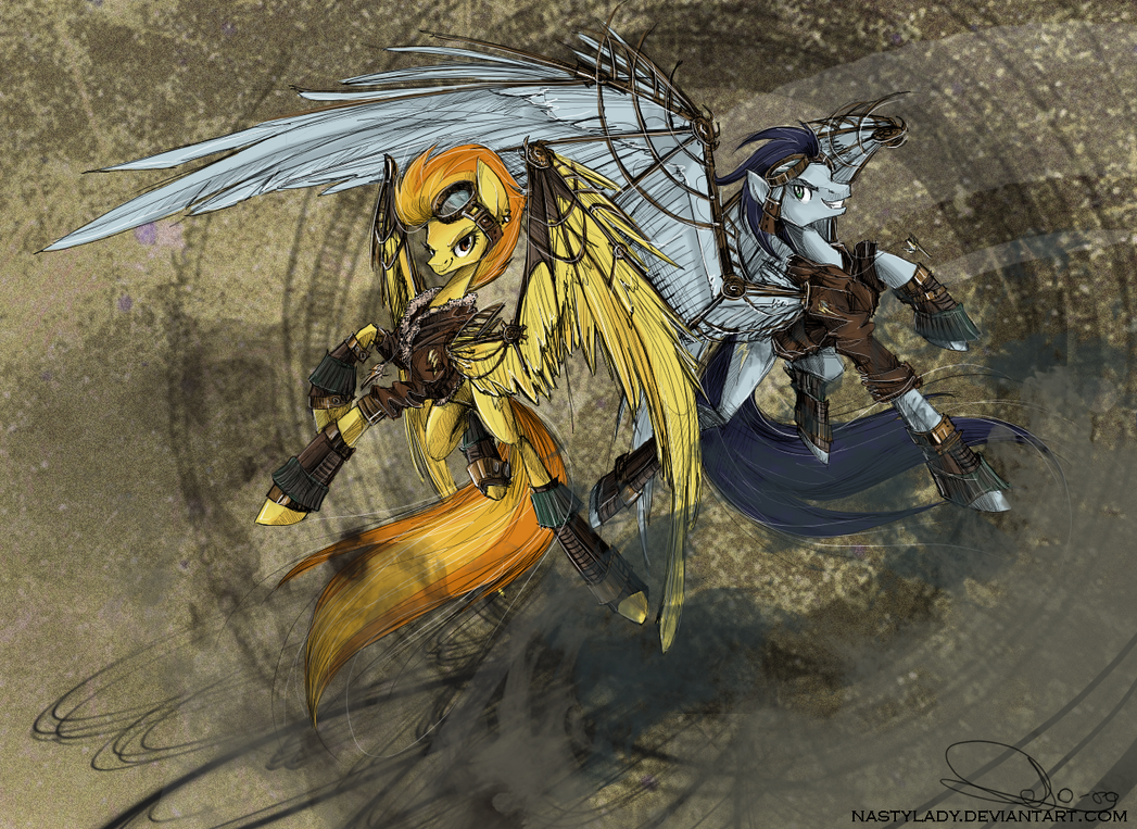 The Wonderbolts went Steampunk by NastyLady