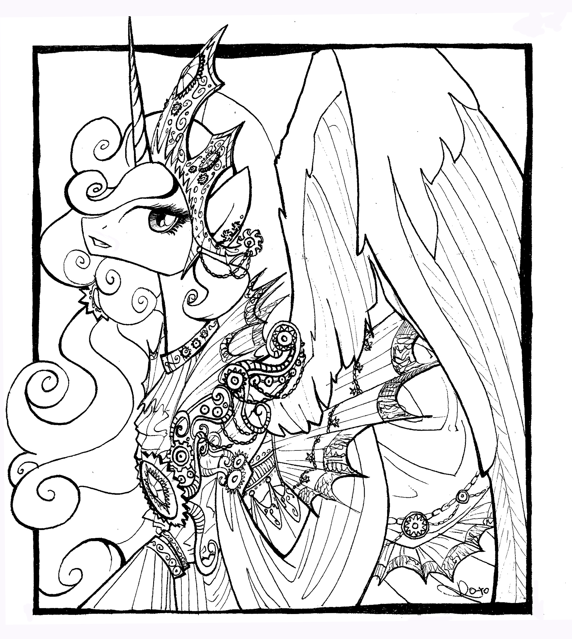 80 My Little Pony Coloring Pages Princess Celestia In A