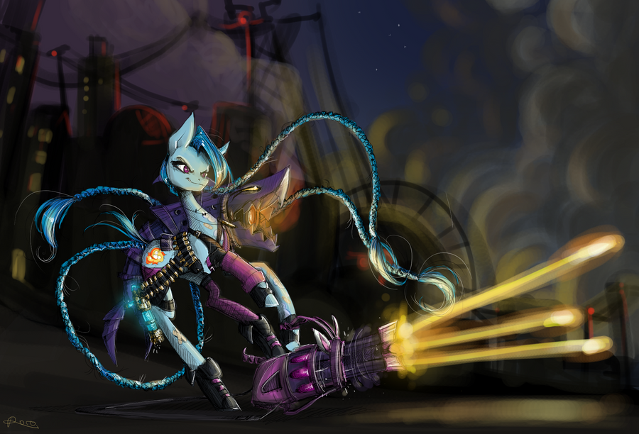 Jinx The Pony Shooting At Nothing In Particular by NastyLady