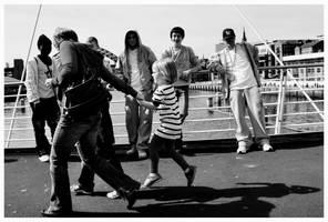 Photoshoot on the Bridge by jazzylemonade