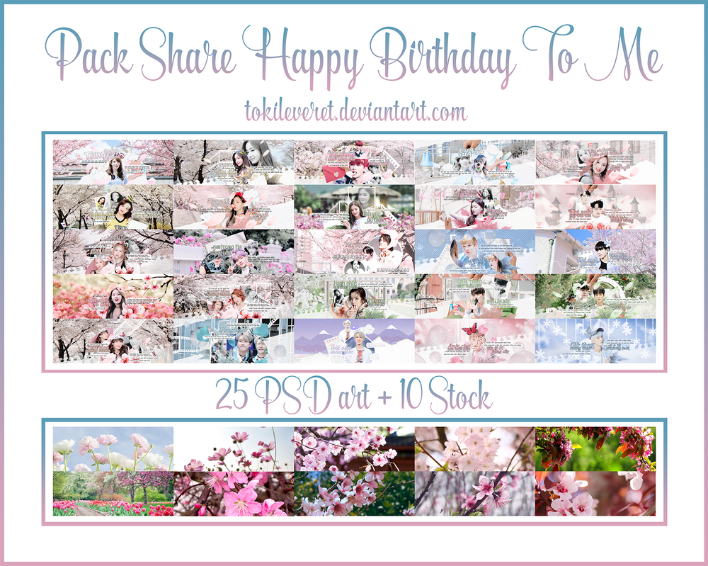 23 6 2018 PACK SHARE HAPPY BIRTHDAY TO ME By TokiLeveret