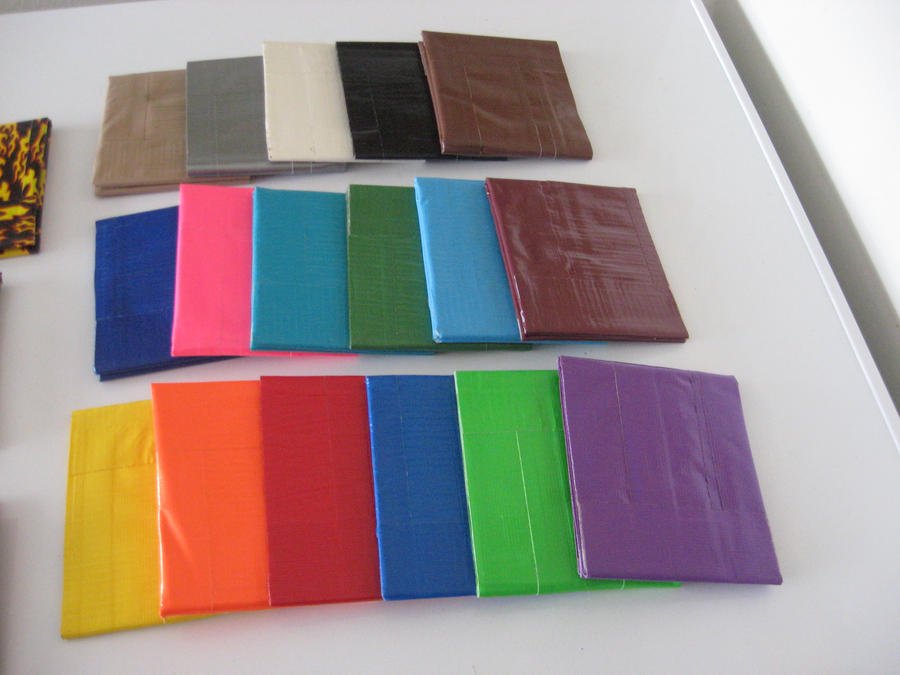 Duct tape wallets solid colors by ducttape hostilities on deviantart