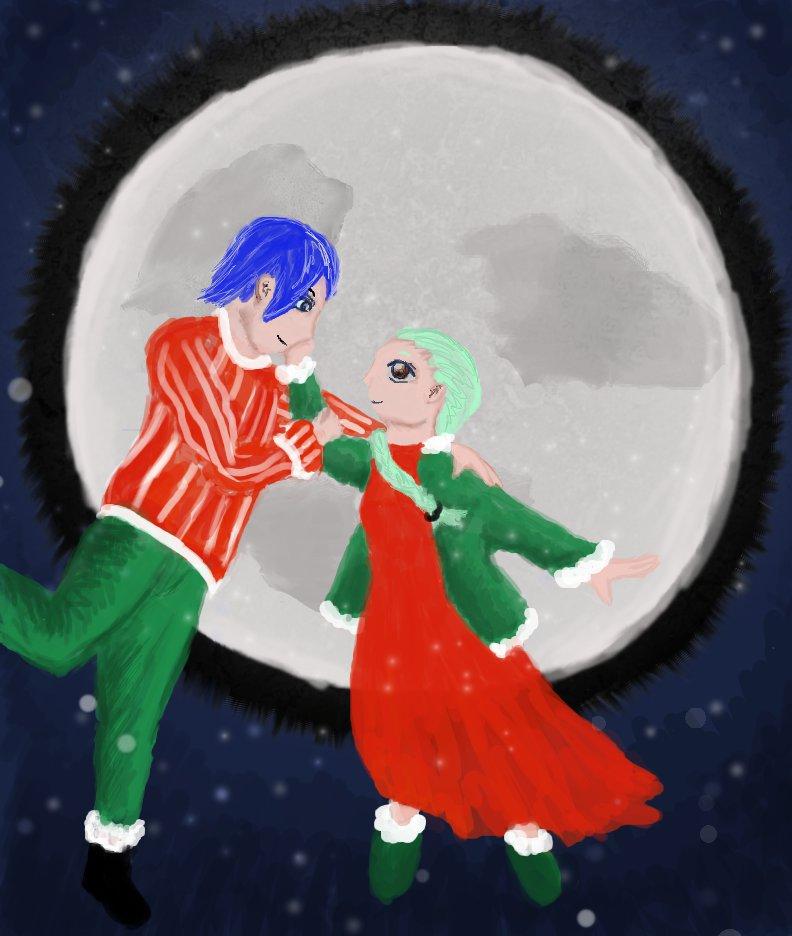 Christmas Moonlight by kajigoddess