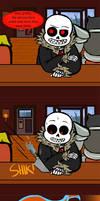 Underfell Comic - Grillby's by DeCipherTheMind
