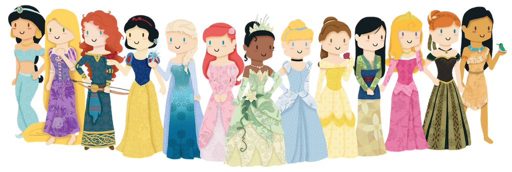 Disney Princesses by Kat-Naps