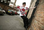 george sampson on a lampost.