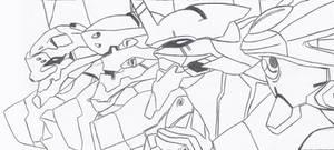 Original Anime Evangelion Units