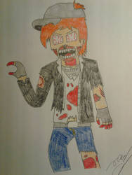 Me as a Zombie by Clipper2018