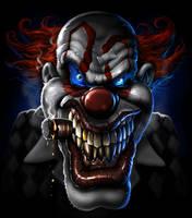 evil clown by nightrhino