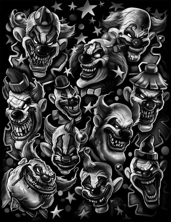 clowns by nightrhino on DeviantArt