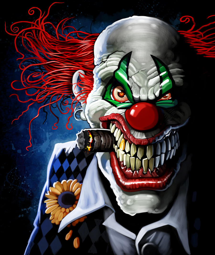 evil clowny by nightrhino
