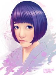 Hoshino Suama Portrait by ElFabulosoVasquez