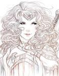 Wonder Woman Sketch Art