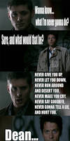 Dean has something to say. by LittlexMissxParasite