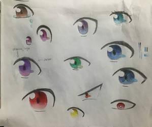 Eye coloring (pencil)