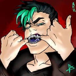 What big teeth you have, Kaito-san...