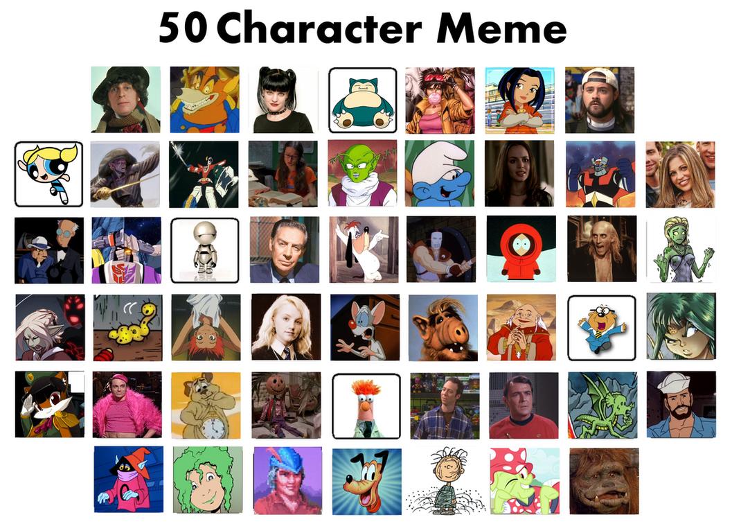 50 Character Meme by punzil504