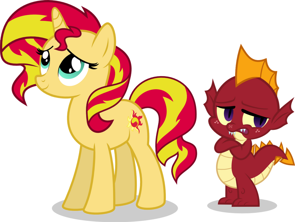 Sunset and Garble by punzil504