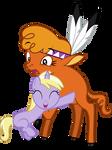 Dinky 'Killer Hug' Doo and Little Strongheart