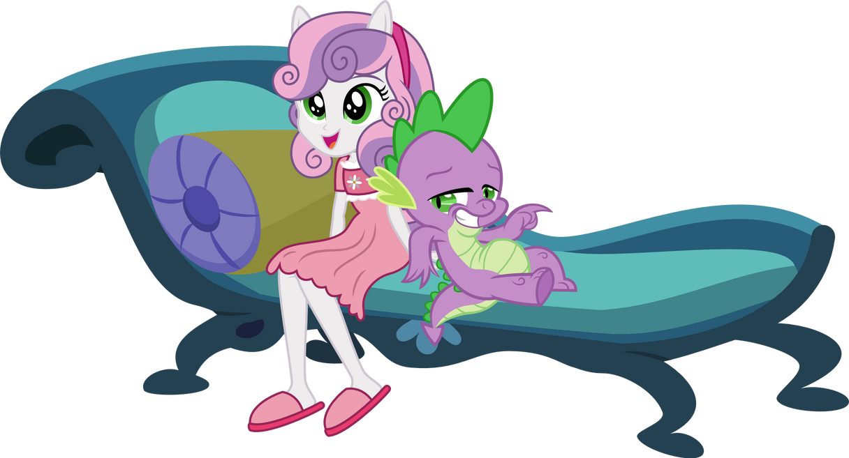 Sweetie and Spike by punzil504