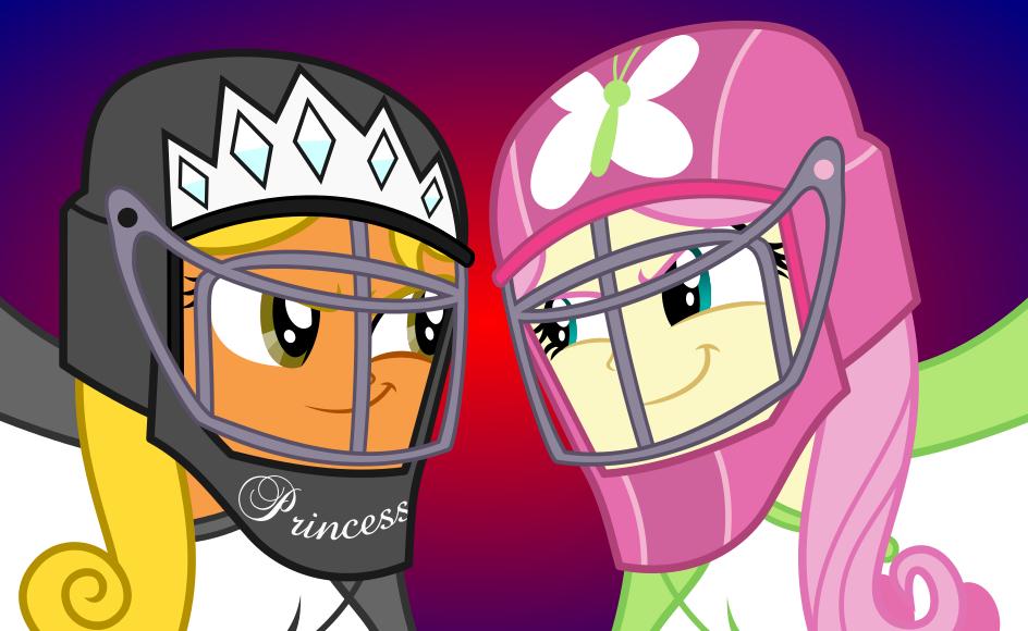 Princess vs Fluttershy by punzil504