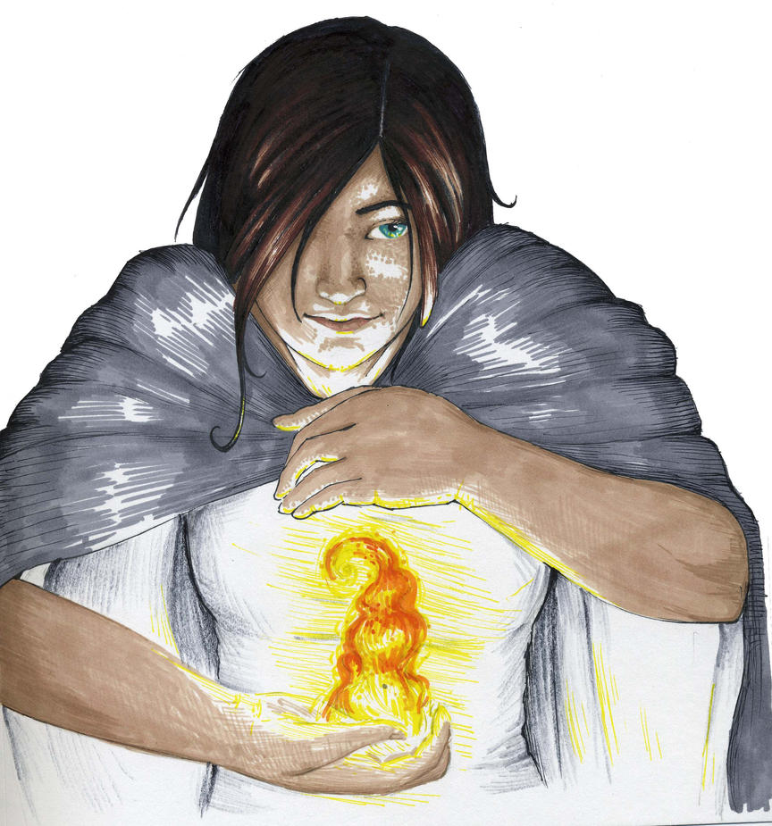 Holding Fire by kaen-a on DeviantArt for Girl Holding Fire Drawing  587fsj