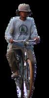 human dan sepeda ontel