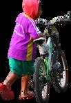 Push the bike PNG