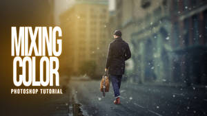 Background and Mixing Color Grading Photoshop