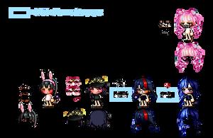WIP CUSTOMS (around 1/4 done?) by kitettsu