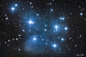 Messier 45 - Pleaides Star cluster - Seven Sisters