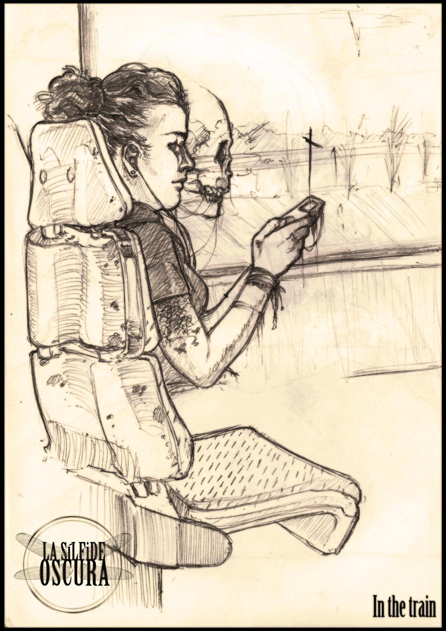 In the train by LASILFIDEOSCURA