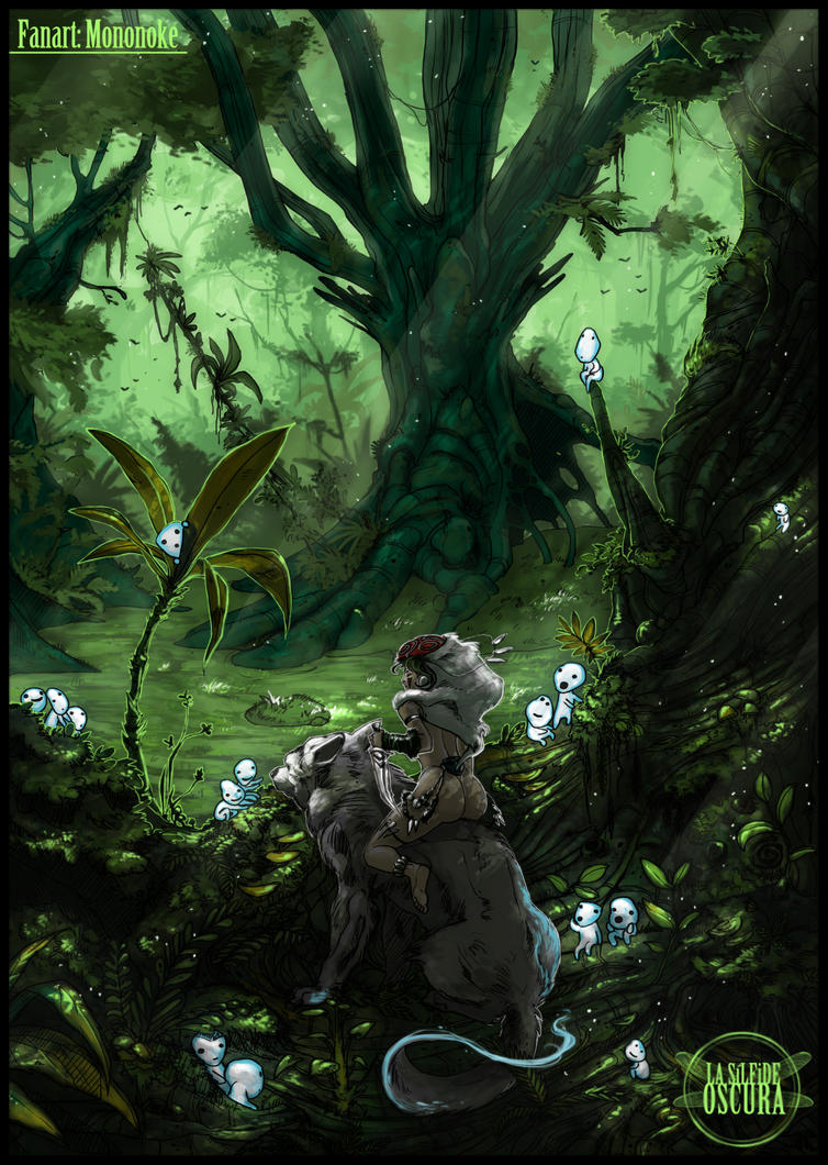 Mononoke (color) by LASILFIDEOSCURA