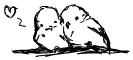 Budgies cuddlin' by RastaPickney-Juls