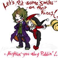 +Chibified+ Joker n Harley by RastaPickney-Juls