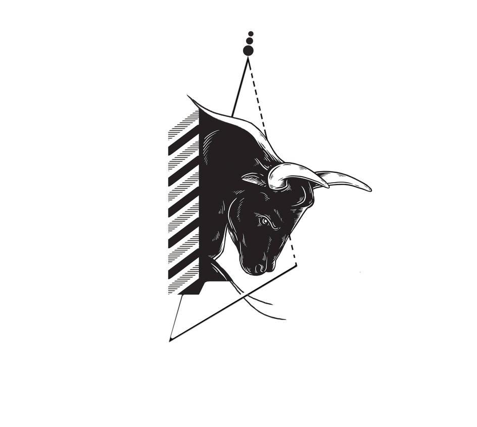 Geometric Bull Tattoo By Brkctnky On Deviantart