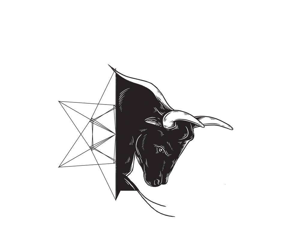 Bull Tattoo With Half Star Geometric By Brkctnky On Deviantart