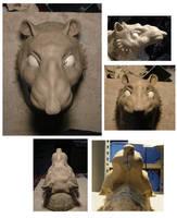 Rat half mask by MissRaptor