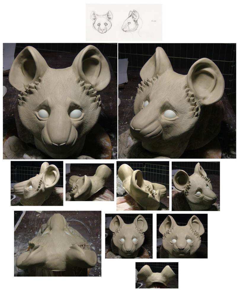 Mouse half mask by MissRaptor
