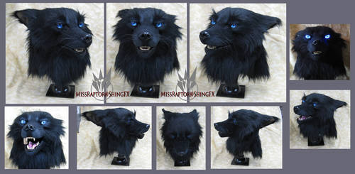 Black wolf mask