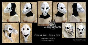 Canine Skull Resin Base