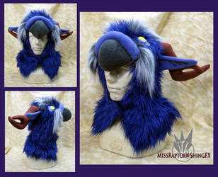 Night Elf Moonkin Hoodie Hat by MissRaptor